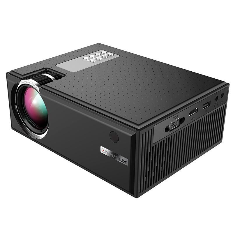 Máy chiếu phim mini WIFI cheerlux C8 HD 1280x720, độ sáng 1800 Lumens. Kết nối không dây với điện thoại Android, IOS. Hàng Chính Hãng.