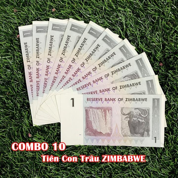 Combo 10 tờ lưu niệm hình con Trâu của Zimbabwe, dùng để sưu tầm, lưu niệm, làm tiền lì xì độc lạ, may mắn, ý nghĩa - TMT Collection - SP005074