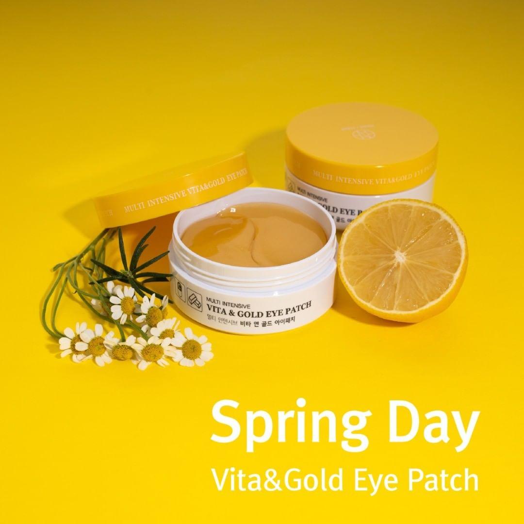 Mặt Nạ Xóa Thâm Và Nếp Nhăn Vùng Mắt tinh chất Vitamine và Vàng ròng/ Hani  x Hani Multi Intensive Vita & Gold Eye Patch   Tiki