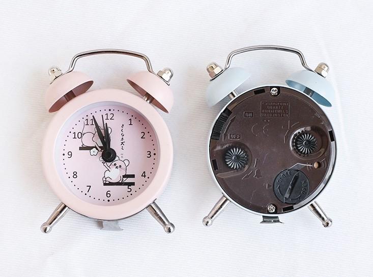 Đồng hồ báo thức để bàn mini Chuột hồng 5x8cm