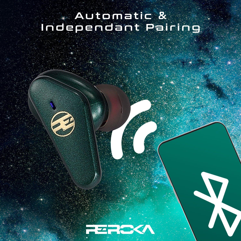 Tai Nghe Bluetooth True Wireless REROKA-TORPEDO Cảm Ứng Thông Minh,Chống Ồn,Chống Nước,Pin Trâu,Bass Trầm,Âm Thanh Hi-Fi,Không Độ Trễ,Hỗ Trợ Sạc Nhanh,Hiển Thị Mức Pin Đèn LED - Hàng Chính Hãng