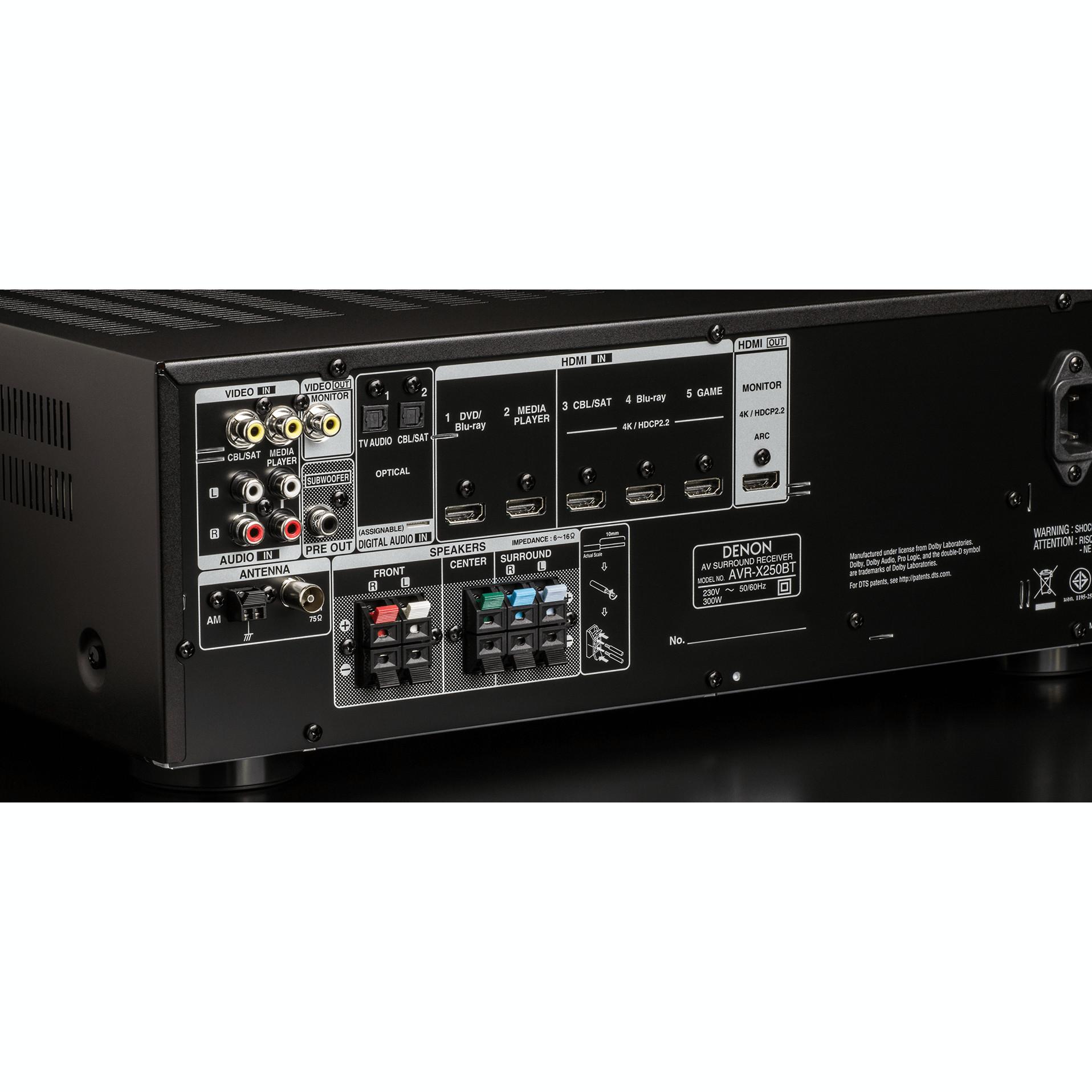 Amply Receiver Denon AVR-X250BT- Hàng chính hãng