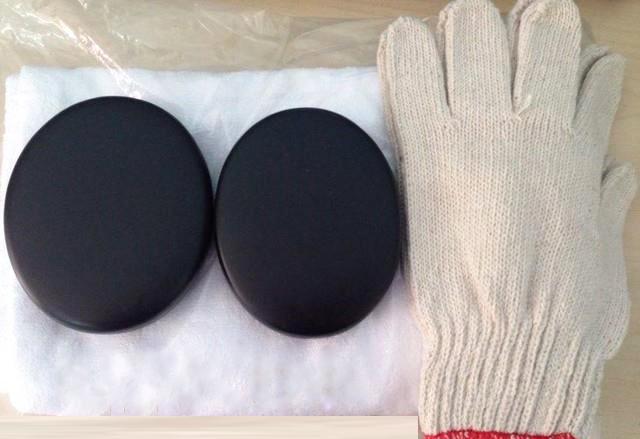Cặp đá nóng chườm gan cùng bao tay chuyên dụng