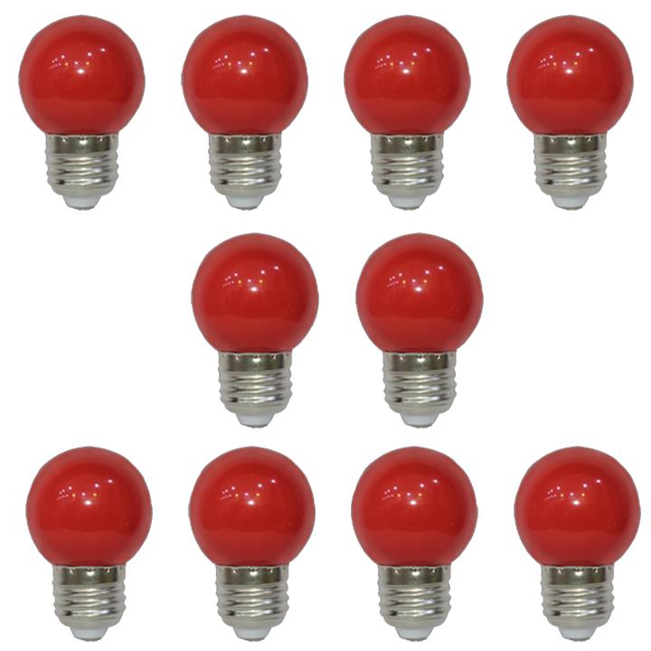 Combo 10 Bóng Đèn Led búp chanh 1,2W màu đỏ Arolight