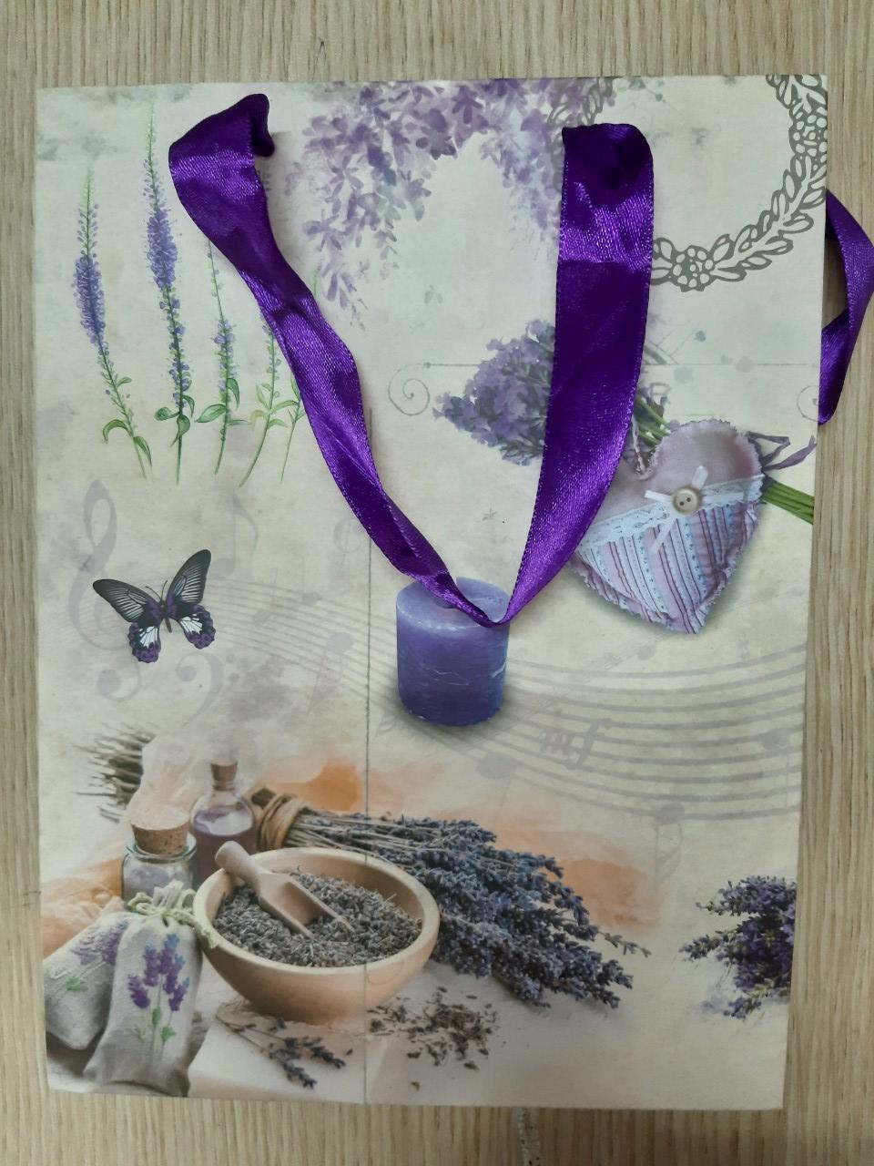 Sét 5 túi quà bằng giấy dây lụa (18x24x9)
