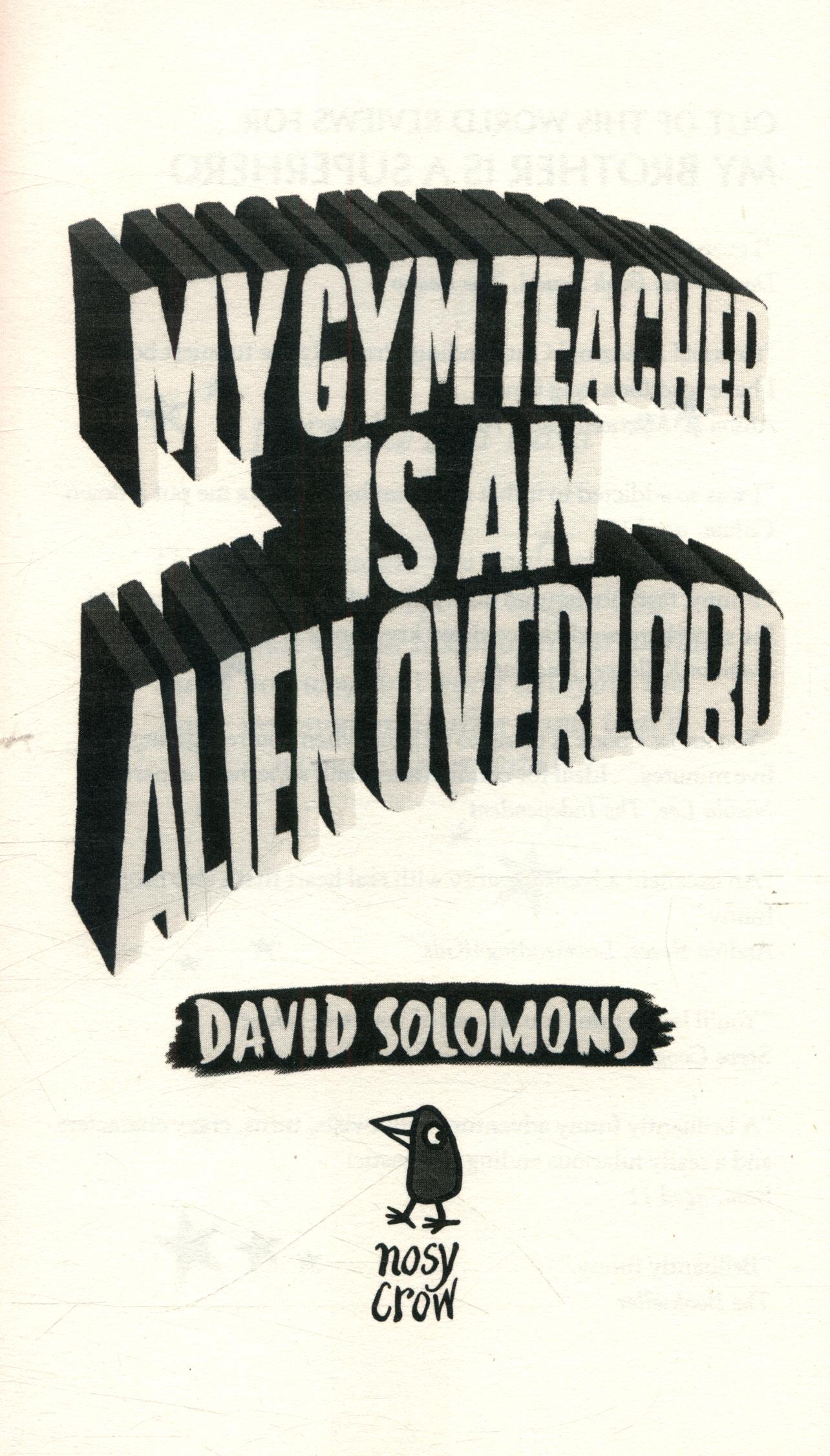 MY GYM TEACHER ALIEN OVERLORD