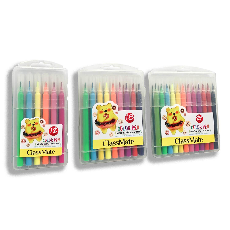 CLASSMATE- Hộp bút lông màu Classmate, bút lông màu có 12/18/24 màu (CL- WC401,402,403 )
