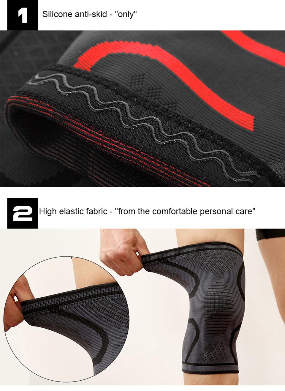 Đai gối đàn hồi bảo vệ đầu gối khi chơi thể thao Aolikes AL7718 (1 đôi) - Đỏ - L