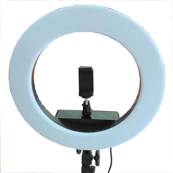 Đèn Livestream đường kính 35cm - kèm Remote chụp hình Bluetooth(màu ngẫu nhiên)