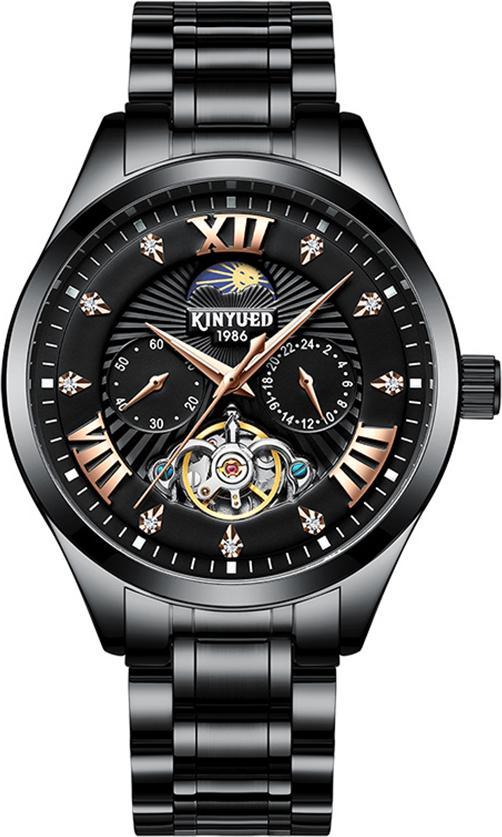Đồng hồ cơ nam KINYUED hàng cao cấp, thiết kế phong cách doanh nhân, chạy full kim, full box