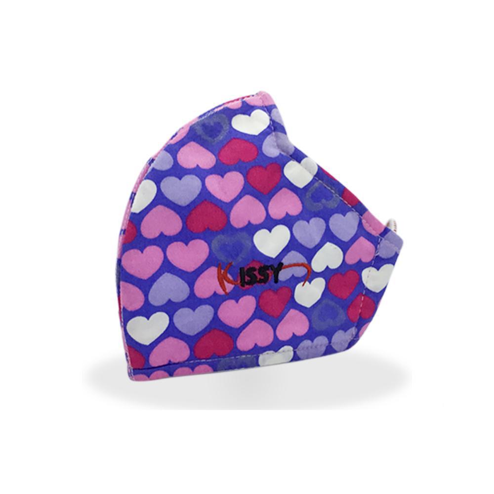 Khẩu trang Kissy nữ sz M trái tim hồng