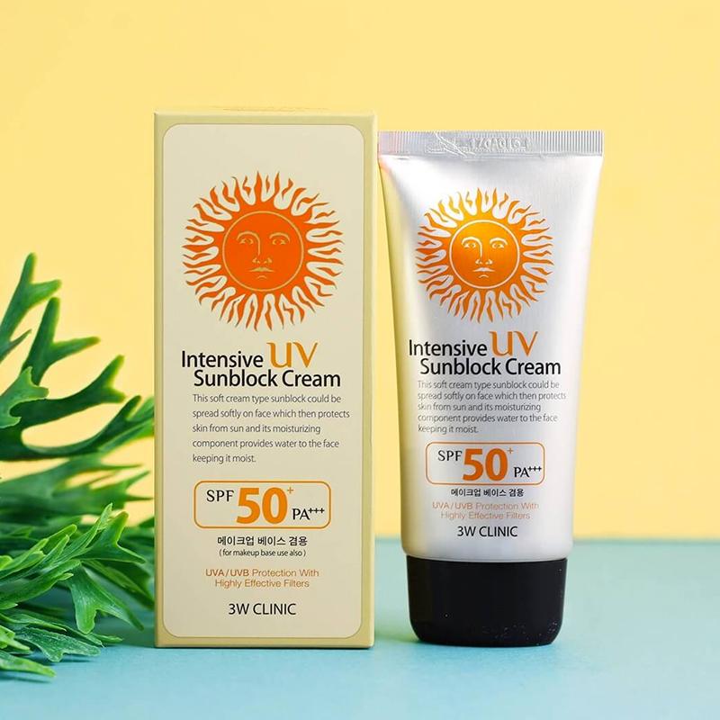 Kem Chống Nắng 3W Clinic Intensive UV Sunblock Cream SPF 50 PA+++