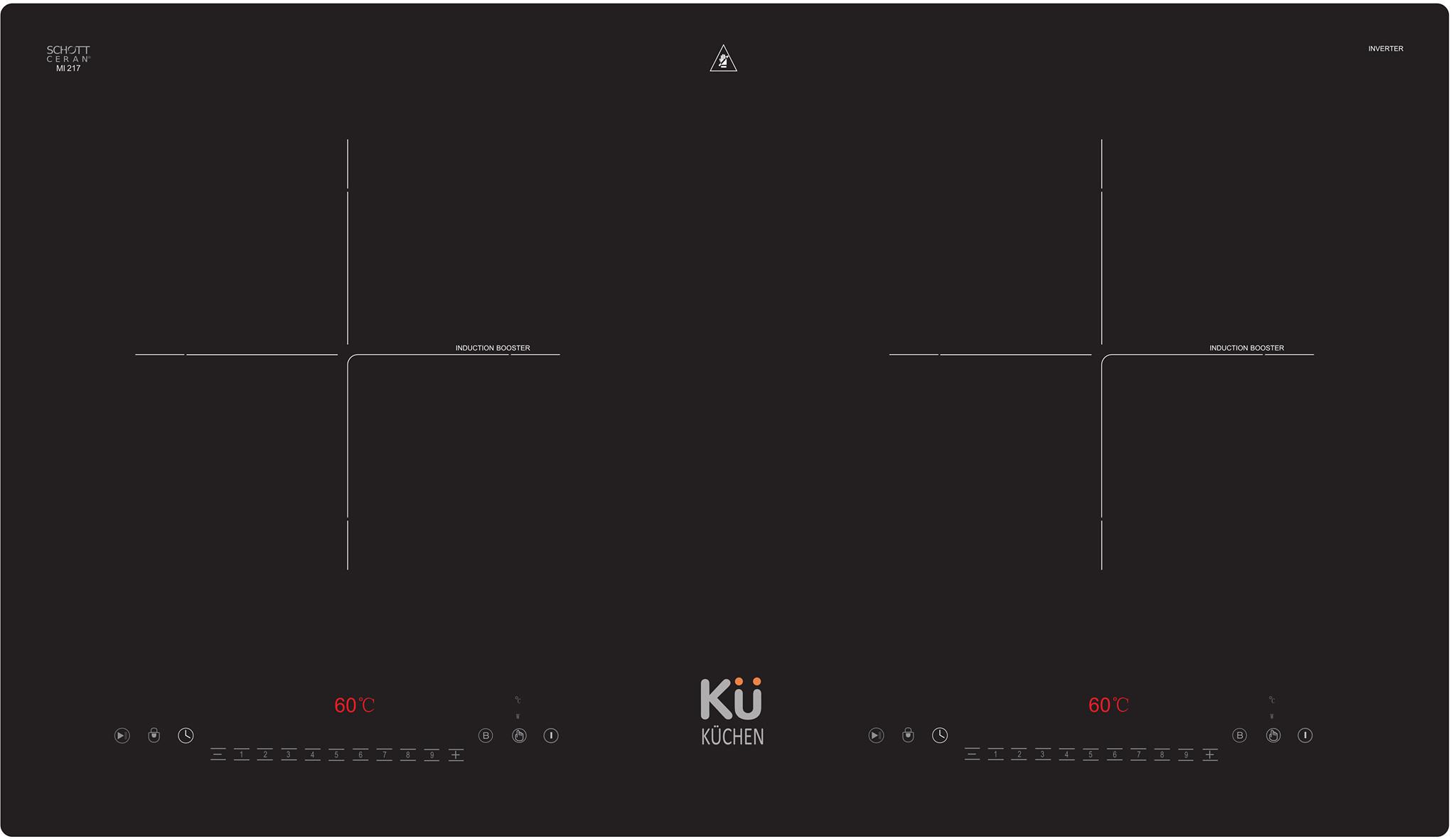 Bếp Điện Từ Cảm Ứng KUCHEN Nhập Khẩu ĐỨC MI205 ( Bếp 2 từ )