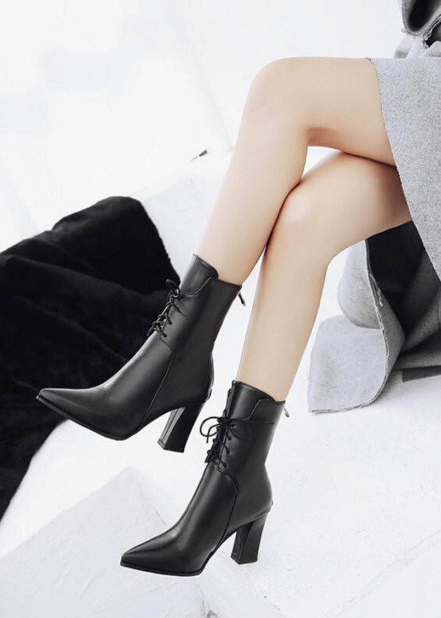 Boot ngang bắp chân mũi nhọn THỜI THƯỢNG GBN4901