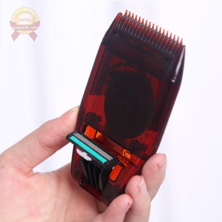 Tông đơ Lược mini chải tóc con mái ướt dao cạo lông râu 2in1 nam nữ điều chỉnh kích thước gỡ rối cắt tỉa