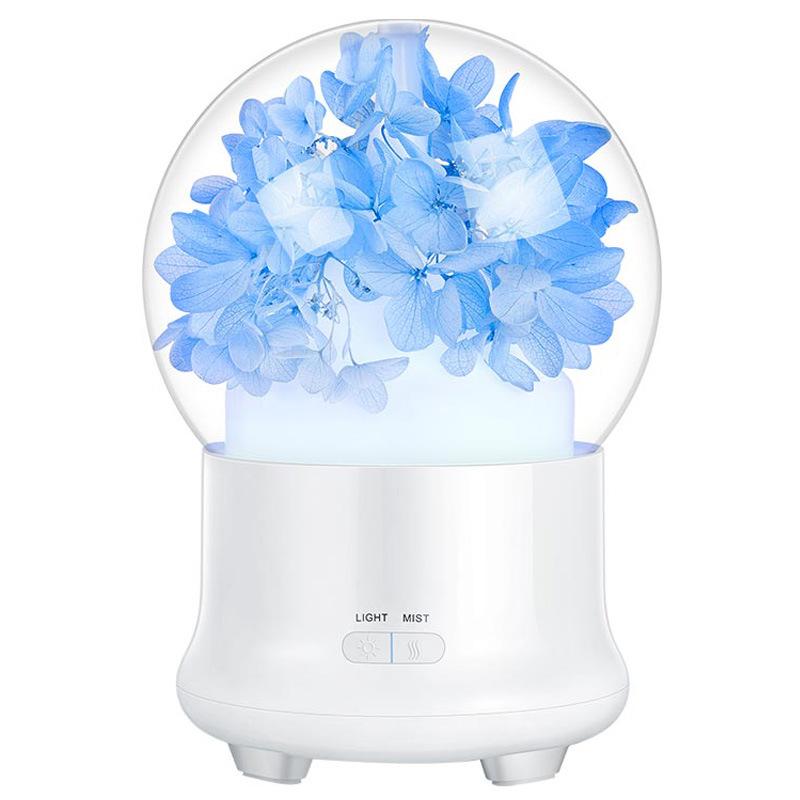 Máy Khuếch Tán Tinh Dầu Siêu Âm Phun Sương Quả Cầu Hoa Iflower | Kèm led 7 màu có thể dùng làm đèn ngủ siêu dễ thương