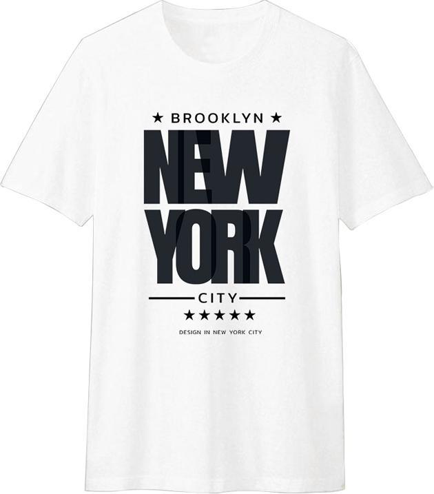 Áo Thun T-shirt Unisex Dotilo New York HM052 - Trắng Size XXL
