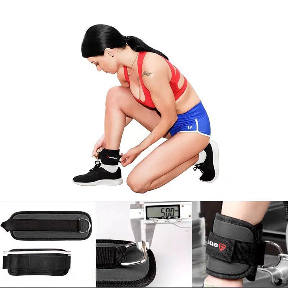 Băng cuốn cổ chân đá tạ, băng bảo vệ cổ chân có móc tập mông đùi GoodFit GF615A