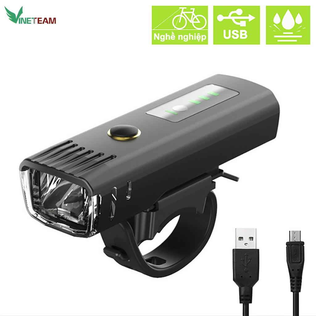 Đèn pha xe đạp siêu sáng cảm biến thông minh, chống nước, tự động điều chỉnh độ sáng theo môi trường, sạc usb, nhỏ gọn, dễ dàng lắp đặt, pin từ 4-8 tiếng - Hàng chính hãng