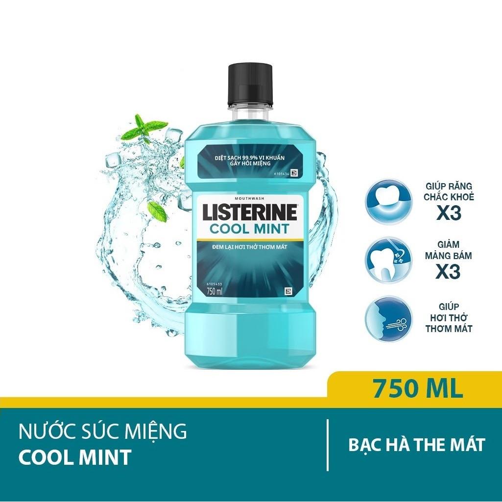 Nước Súc Miệng Hương Bạc Hà Listerine Cool Mint (750ml)