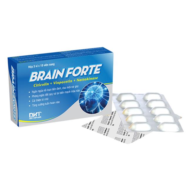 Thực Phẩm Chức Năng Viên Uống Bổ Sung Brain Forte HATAPHAR (3 Vỉ/Hộp)