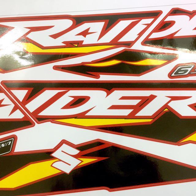 Tem dành cho xe Raider Fi rời xe đỏ in cực nét cao cấp