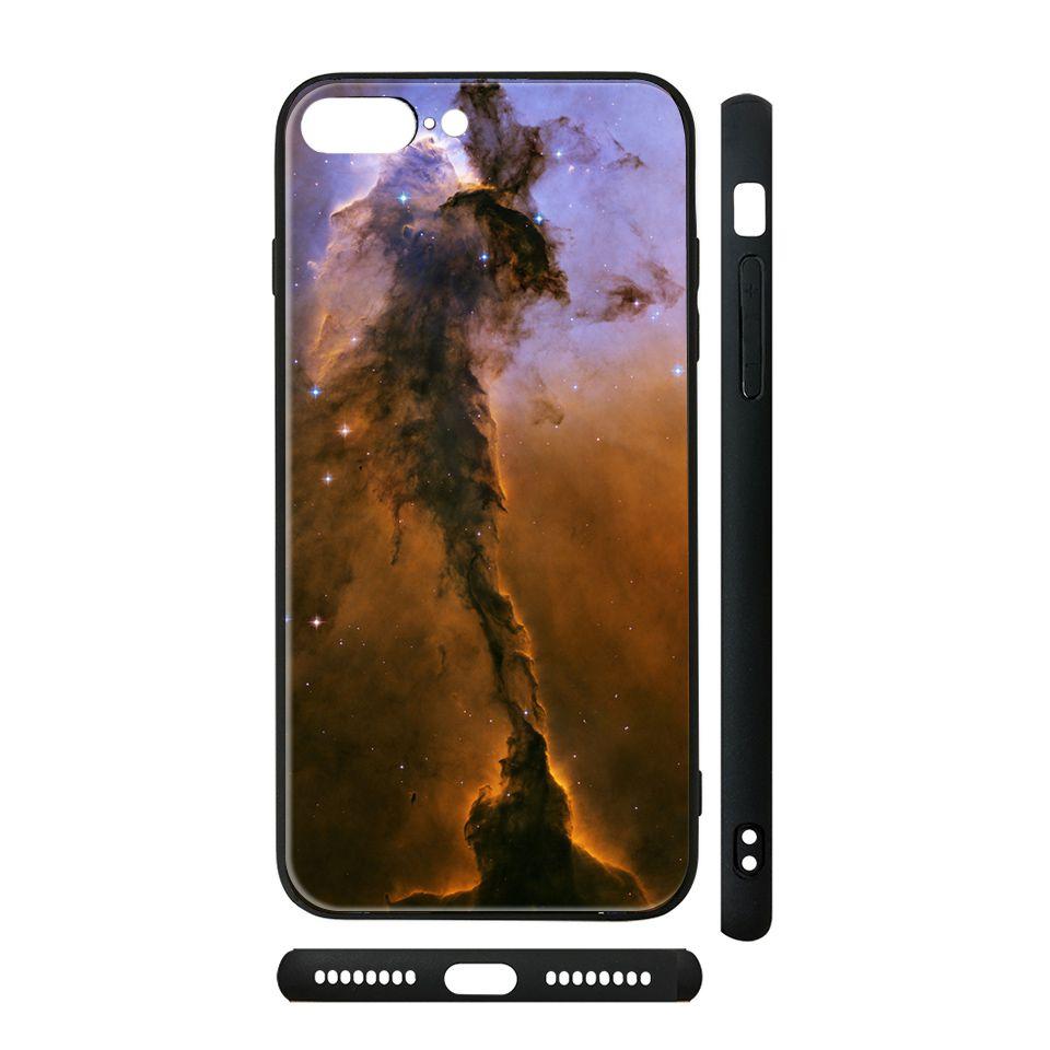 Ốp kính cho iPhone in hình tinh vân Đại bàng - vutr006 có đủ mã máy - iPhone XR