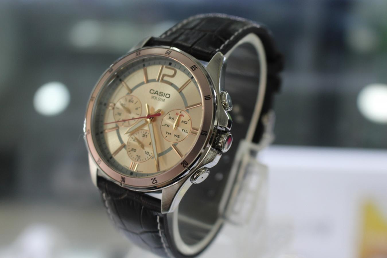 Đồng hồ nam dây da Casio MTP-1374L-9AVDF