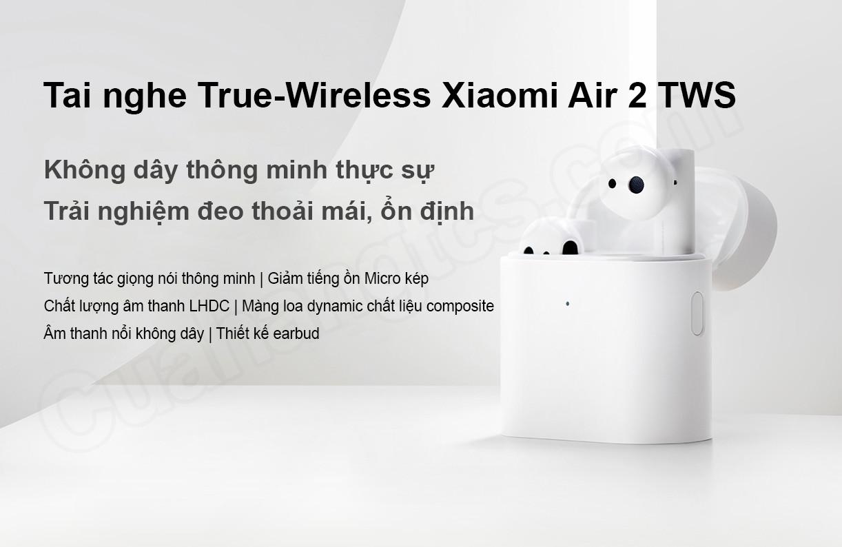 Tai nghe Xiaomi Air 2 TWS - Hàng Nhập Khẩu chính hãng Xiaomi - Tai nghe  Bluetooth nhét Tai