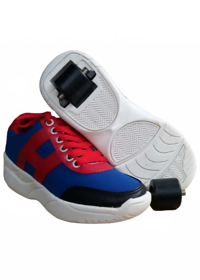 Giày bánh gót An Phát ( 019-01  XANH DƯƠNG -ĐỎ)