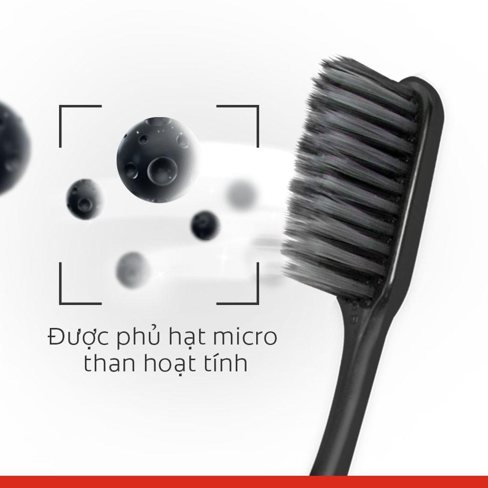 Bộ đôi bàn chải đánh răng Colgate than hoạt tính kháng vi khuẩn SlimSoft Charcoal mềm mảnh