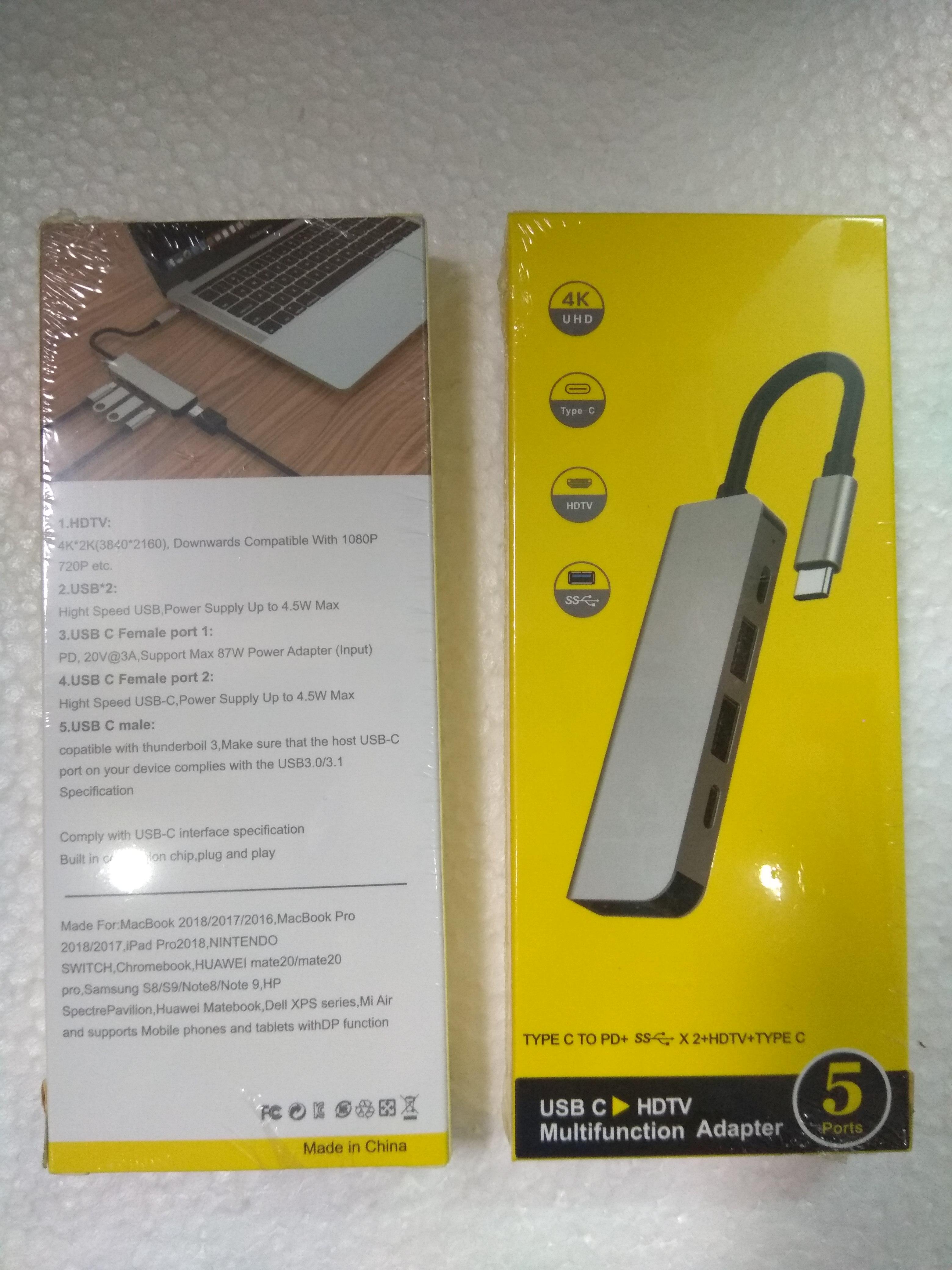 Hub USB Type-C 5 Cổng HDMI 4K 60Hz/ USB 3.0/ Type-C/ PD 50538 - 5in1-3 60Hz