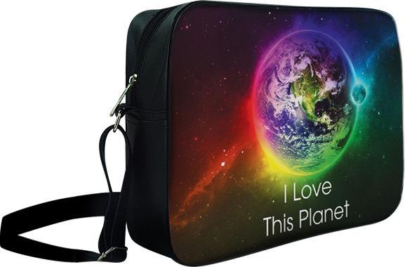 Túi Đeo Chéo Hộp Unisex I Love This Planet - TCGA028 34 x 9 x 25 cm