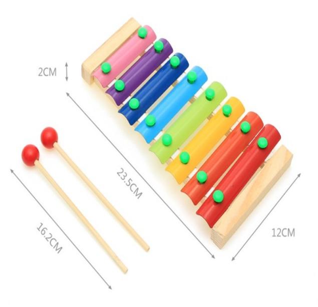 COMBO đàn gõ 8 thanh và xếp tháp 7 màu