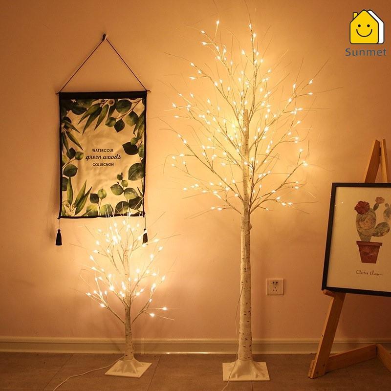 Đèn LED Trang Trí Hình Cây Bạch Dương Phong Cách Tây  Cao 1m8 Trang Trí Nội Thất, Sảnh Khách Sạn, Nhà Hàng, Sân Vườn