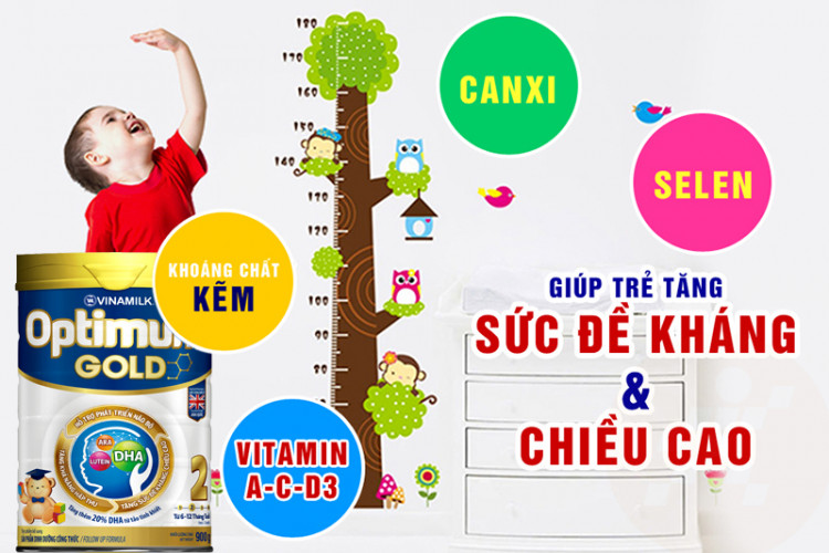 Sữa bột Optimum Gold 2 900g (cho bé 6 -12 tháng)