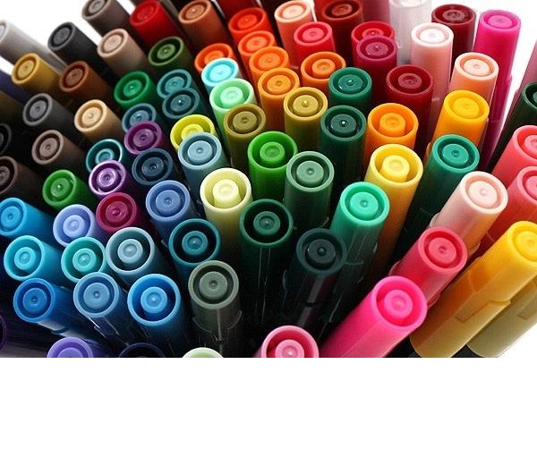 Bút lông hai đầu màu nước Marvy LePlume II 1122 - Brush/ Extra fine tip - Red (2)