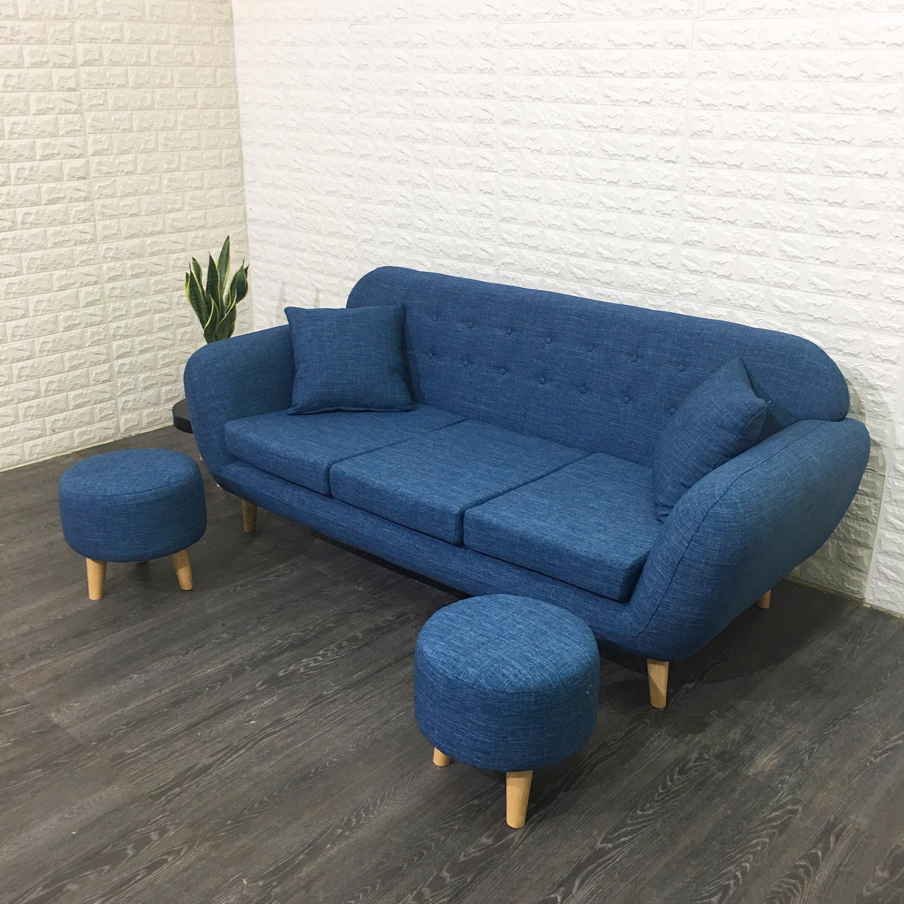 Bộ Sofa Băng A1 Kèm 2 Đôn Cùng Bộ (190x80x78cm)