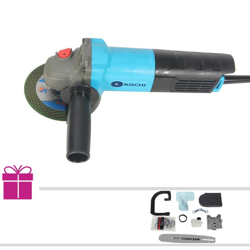 Bộ máy mài, cắt cầm tay đa năng Kachi MK190 + Tặng kèm lưỡi cưa xích (Kèm bộ phụ kiện) - Hàng chính hãng