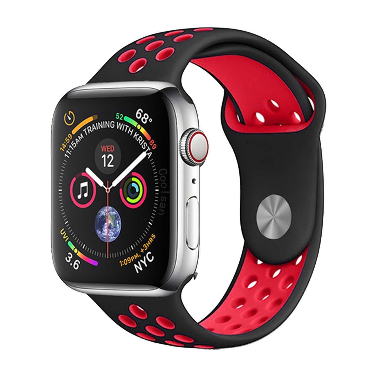 Dây đeo thể thao thay thế cho Apple Watch 38mm / 40mm hiệu Kakapi Sport cao cấp (chất liệu silicon cao cấp, thiết kế ôm sát tay, siêu chắc chắn) - Hàng chính hãng
