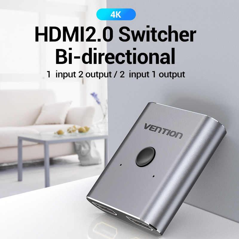 Bộ chuyển đổi 2 chiều HDMI 2 cổng (4k) Vention AFUH0 - Hàng chính hãng
