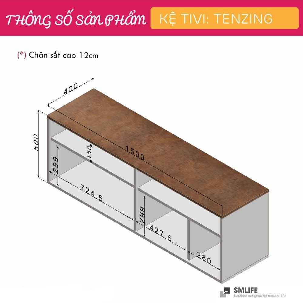 Kệ Tivi gỗ hiện đại SMLIFE Tenzing