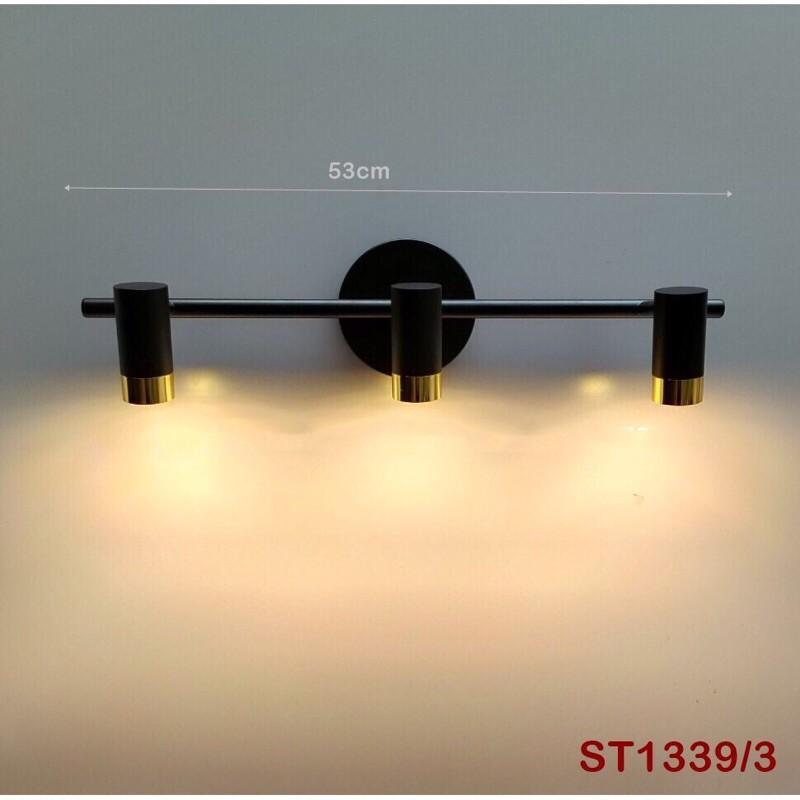 Đèn soi tranh 3 bóng, 5 bóng gương led ánh sáng vàng ,hàng cao cấp trang trí gương đèn phòng tắm phòng khách sang trọng hiện đại