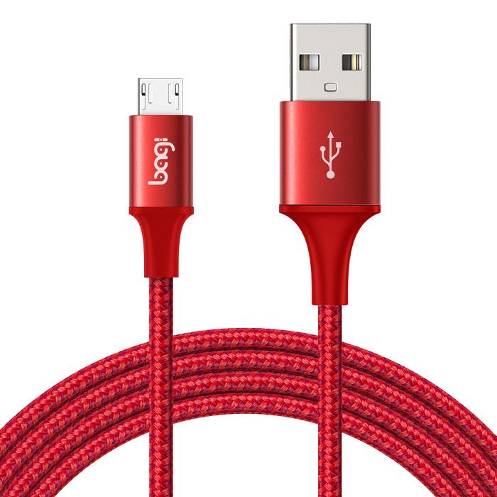 Cáp dù sạc nhanh Mciro USB Bagi dài 2m MS200 - Hàng chính hãng