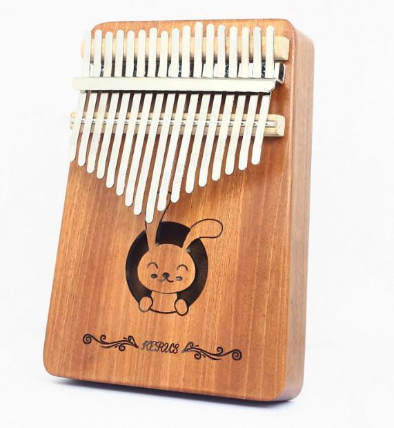Đàn Kalimba 17 Phím gỗ mahogany M-17 Thỏ cute ( Tặng Túi nhung bảo vệ, Búa chỉnh âm, Sticker dán note, Khăn lau, stick màu)