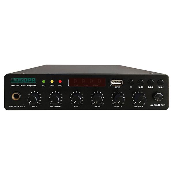 Amply kỹ thuật số DSPPA MP9312D 120W có USB & Bluetooth- Hàng nhập khẩu