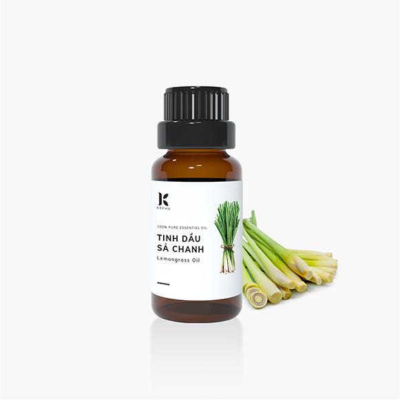 Tinh dầu Sả Chanh Kepha 100ml - Nguyên chất 100%, nhập khẩu trực tiếp Ấn Độ - Giúp xông hơi giải cảm, chống nhiễm nấm - Đuổi muỗi phòng chống sốt xuất huyết