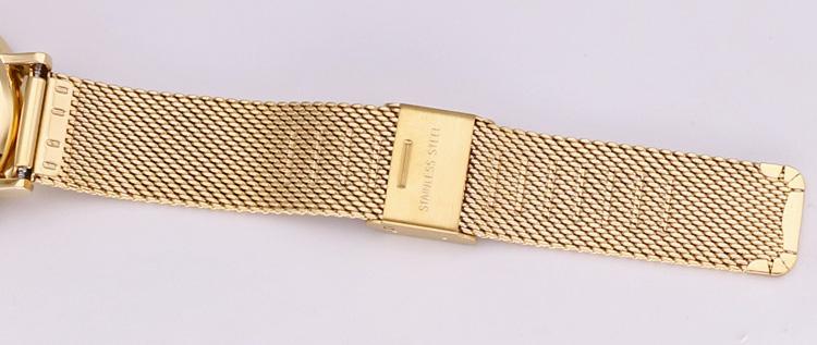 Đồng hồ Nữ Julius Dây kim loại Ja1065 vàng mặt đen
