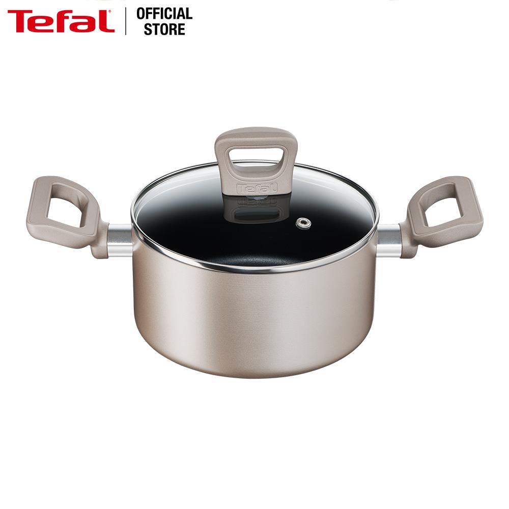 Nồi chống dính đáy từ Tefal Sensations H9104314 18cm (Đồng) - Hàng chính hãng