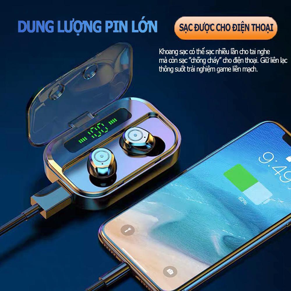 Tai nghe Bluetooth 5.1 - Chuẩn IPX7 công nghệ chống ồn CVC 8.0